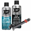 XCP Complete Motorcycle Chain Care Kit - Cleaner 400ml - Lubricant 400ml - Brush