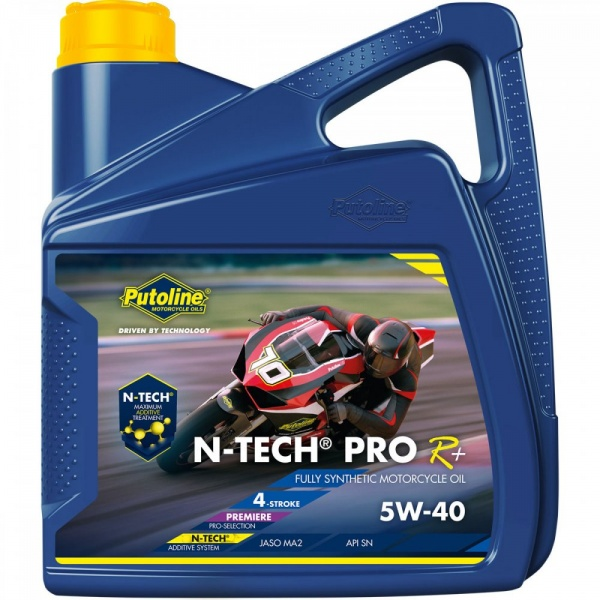 Putoline N-Tech Pro R+ 5w40 5W-40 Fully Synthetic Motorcycle Engine Oil 4 Litre