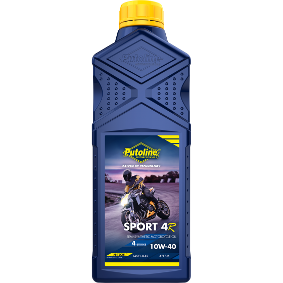 PUTOLINE 1 Litre N-TECH SPORT 4R Motorcycle Semi-Synthetic Engine Oil 10W-40
