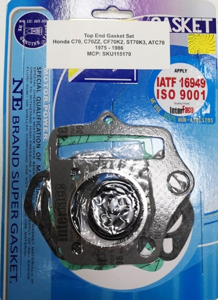 Honda High Quality Top End Gasket C70, C70ZZ, CF70K2, ST70K3, ATC70 75-86
