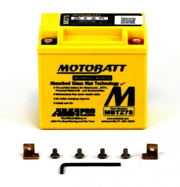 MotoBatt 12V MBTZ7S Battery Replaces YTX5L-BS YTZ6S YTZ7S