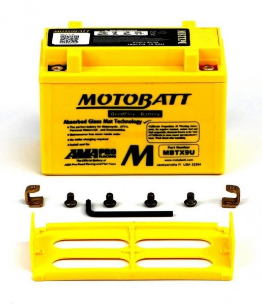 MotoBatt 12V MBTX9U Battery Replaces YT12A-BS YTR9-BS YTX9 YTX9-BS YTZ12S YTZ14S