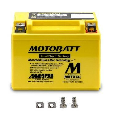 MotoBatt 12V MBTX4U Battery Replaces YB4L-A YB4L-B YT4L-BS YTX4L-BS YTZ5S