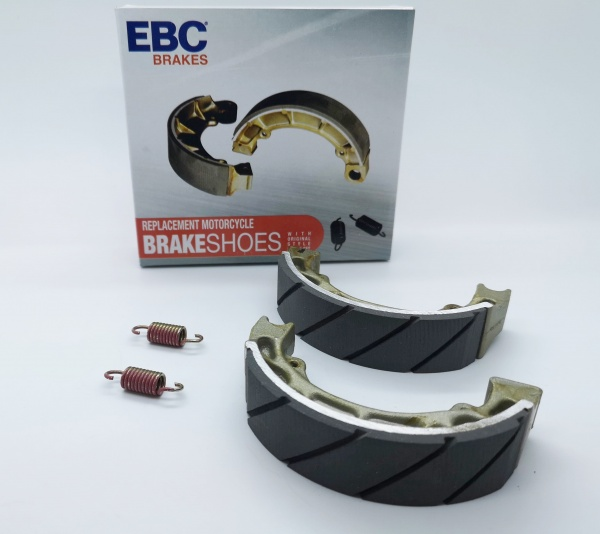 Honda C50 C70 C90 Cub EBC Water Grooved Brake Shoes Road Race Plop Enduro H303G