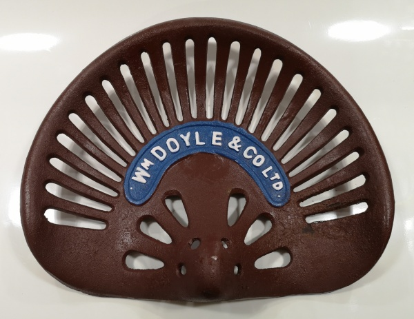 Cast Iron Tractor Seat WM Doyle & Co Ltd Hand Painted