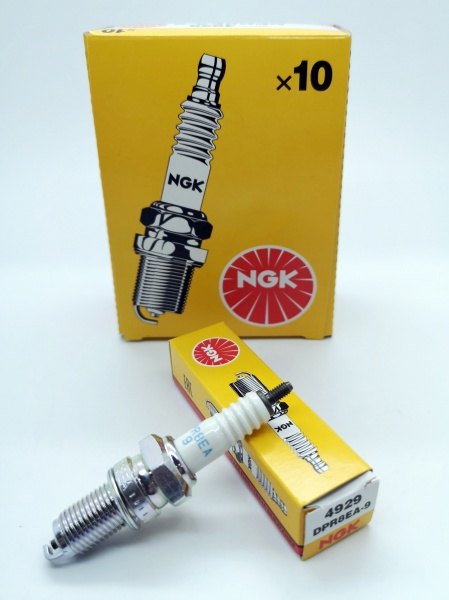 NGK Copper Core Spark Plug DPR8EA-9 DPR8EA9 Stock: 4929 Made In Japan Not India
