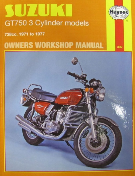 Haynes Manual 0302 - Suzuki GT750 3-Cylinder Models 71-77 - Limited Reprint