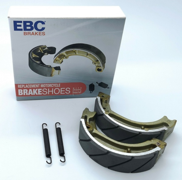Honda C90 Cub & Many Other Honda Bikes EBC Water Grooved Brake Shoes Road Race Plop Enduro H304G