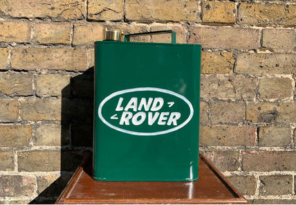 Land Rover Advertising Vintage Memorabilia Fuel Can Hand Painted Brass Top