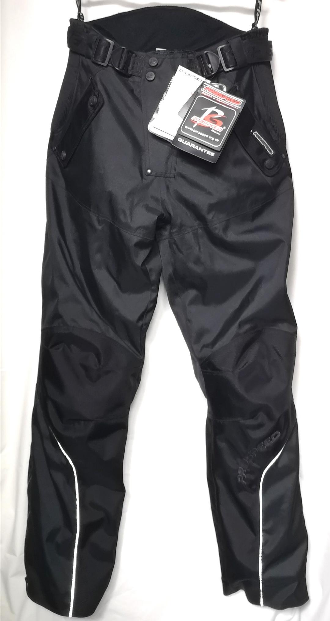 Quality Waterproof Armoured Black Motorcycle Textile Trousers 38 XXL RRP: £119