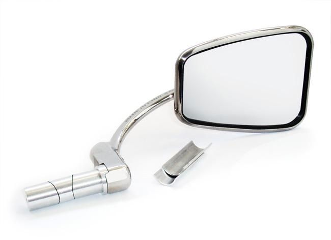 Halcyon Stainless Steel 820 Bar End Mirror 7/8 & 1 Inch Bars Made In England