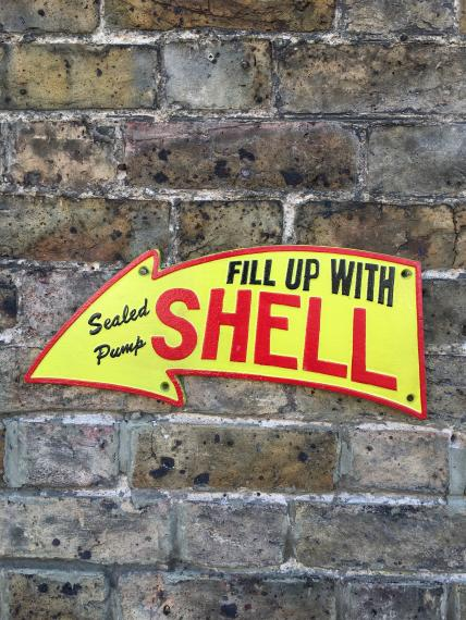 Shell Oil Cast Iron Advertising Wall Plaque / Sign